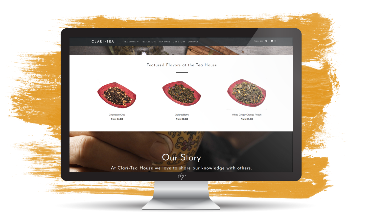 Clari-tea Website