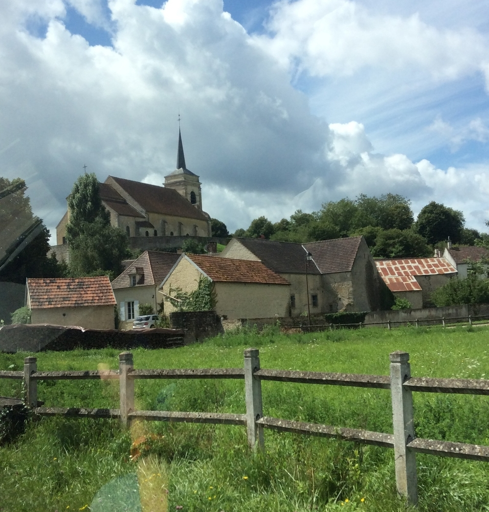 On the road, visiting the quaint town of Vezelay France.