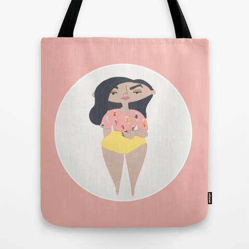 Nadia Tote Bag by ThePaperGnome
