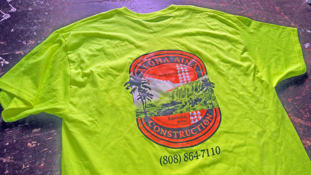 custom tshirt printing Honolulu, Hawaii