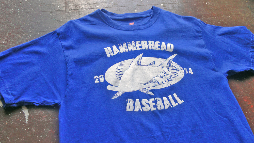 Hammerhead Baseball club tshirts honolulu, Hawii