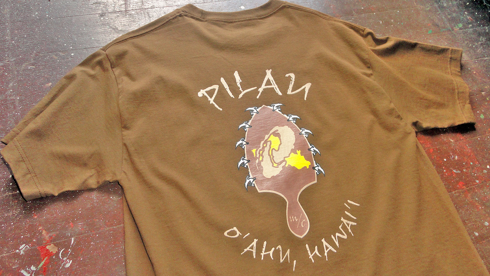 Pilau Motorcycle Club Tshirts Honolulu, Hawaii