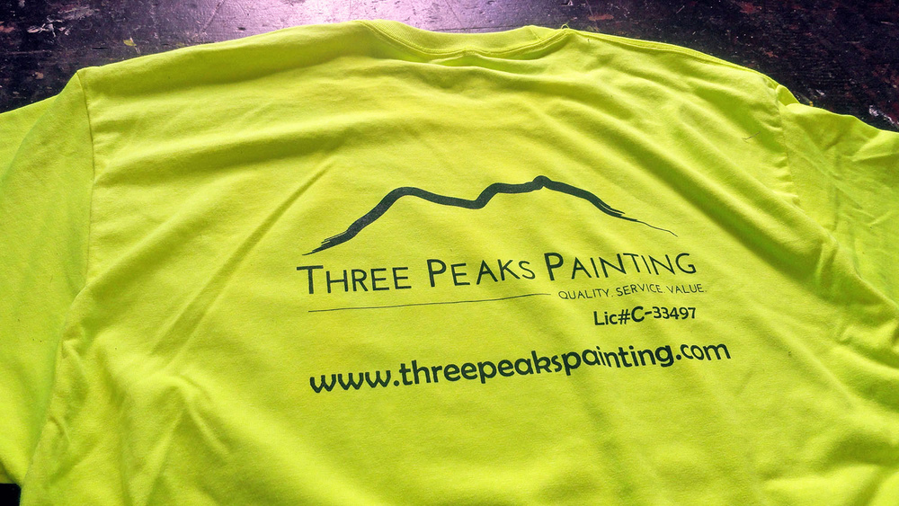 Custom Shirts Oahu, Hawaii for Three Peaks Painting