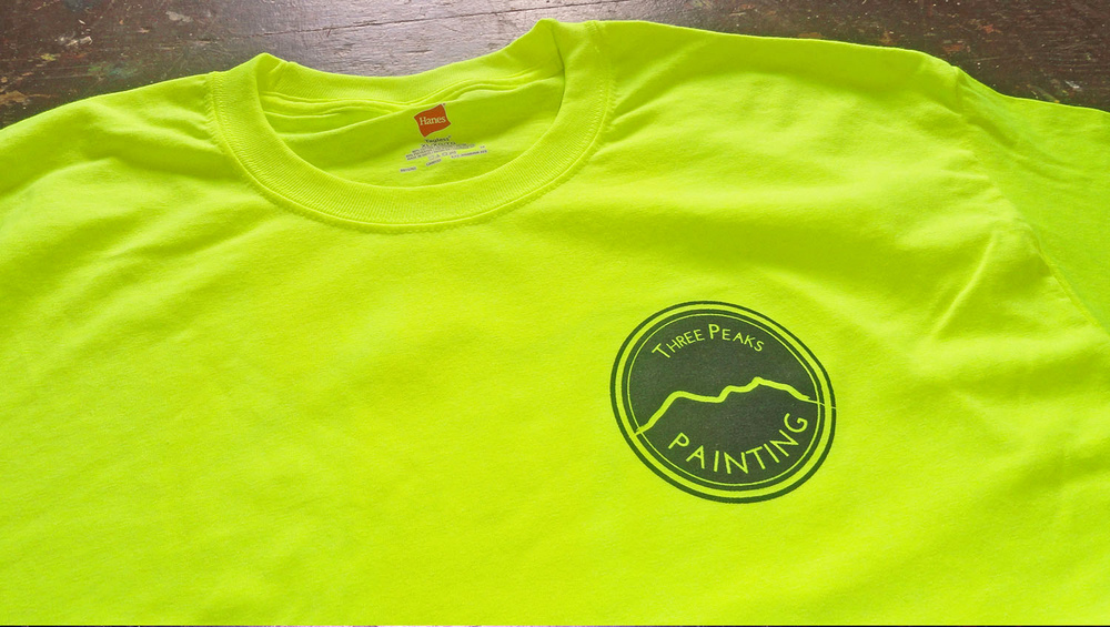 Custom shirts for Three Peaks Painting in Oahu, Hawaii