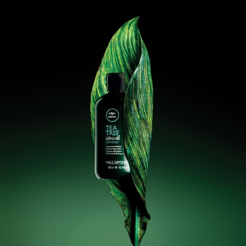 Paul Mitchell's Tea Tree Special Shampooquenches and hydrates thirsty hair from root to tip, while its special ingredients and tea tree oil rid hair of impurities. Safe on all hair types including color treated hair. Purify. Invigorate. Tingle.