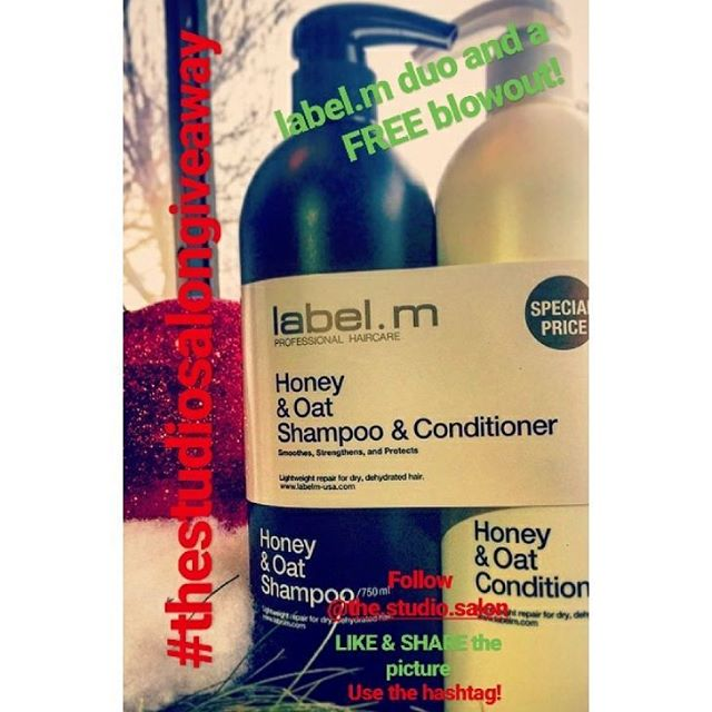 The Studio is growing! Label.m products are back and just in time for Christmas we are doing our first give away! One lucky winner will win a duo pack of Honey & Oat Shampoo and Conditioner, perfect to repair dry, dehydrated hair without heaviness and leave your hair soothed and strengthened, and a FREE blowout! 🎄 ⛄ T O P A R T I C I P A T E ⛄ 🎄 1. Follow @the.studio.salon on Instagram! 2. LIKE and SHARE on your Instagram page the giveaway post with the hashtag #thestudiosalongiveaway  3.On Sunday 12/17 one lucky winner will be chosen!  #keepitlocal #keepitlocalcle #ohiocity #cle #cleveland #thestudiosalon #labelm #ohiohairstylist #216 #blowout #thisiscle #clegram #clehair