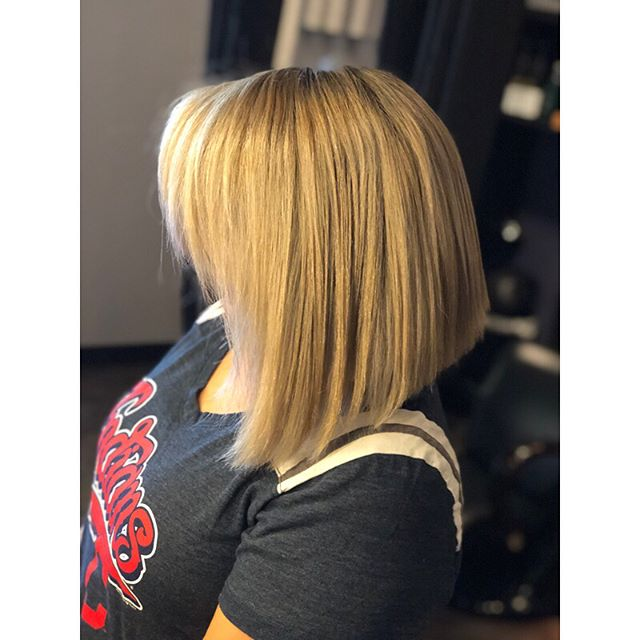 By far one of my favorite transformations so far! Sandra came in with about 3 inches of new growth and high hopes of being blonde after being to SEVEN different hairdressers who always had her leaving with orange hair. NO ORANGE HERE. We did the fullest of full highlights, which took two hours total just to foil 🙀we lifted her natural level 2 to a level 8, toned her nice and cool and added an awapuhi wild ginger keritriplex treatment to keep her nice and healthy! This was definitely one of my proudest moments as a hair dresser so far. I love what I do so much and I hope to see some of y'all in my chair soon 🤗 #paulmitchell #blonde #blondetransformation #colorcorrection #coolblonde #ashblonde #awapuhiwildginger #awapuhitreatment #thestudio #thestudiosalon #thestudioohiocity #cleveland #clevelandhairstylist #ohiocity #lovewhatyoudo #passion #behindthechair #btc #btconeshot_colortransformation18 #btconeshot_platinum18 #modernsalon #americansalon #passion #lovewhatyoudo