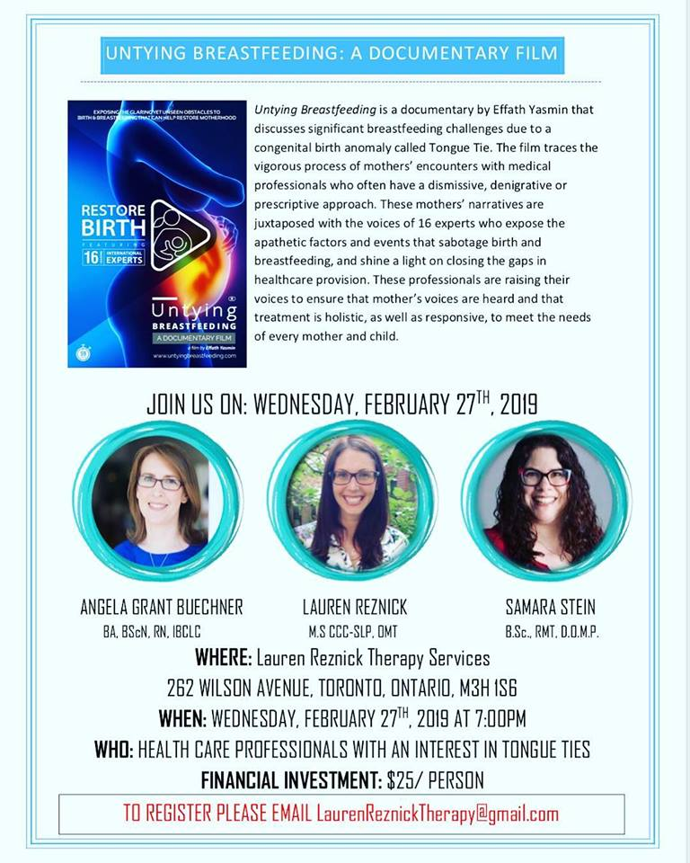 Professional Workshop - Wednesday, February 27th, 20197:00PMPlease email laurenreznicktherapy@gmail.com to register!