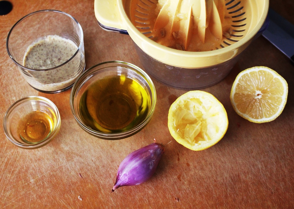 Creamy Lemon Vinaigrette Ingredients