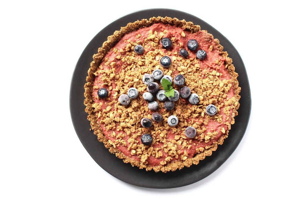 All of It - Strawberry Rhubarb Tart with Cracklin' Oat Bran inspired crust