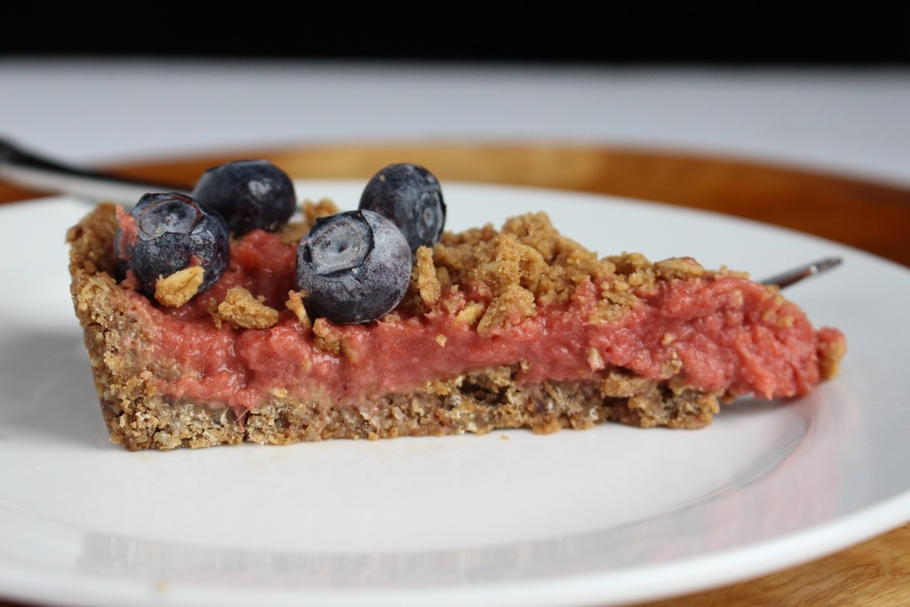 All of It - Strawberry Rhubarb Tart with Cracklin' Oat Bran crust