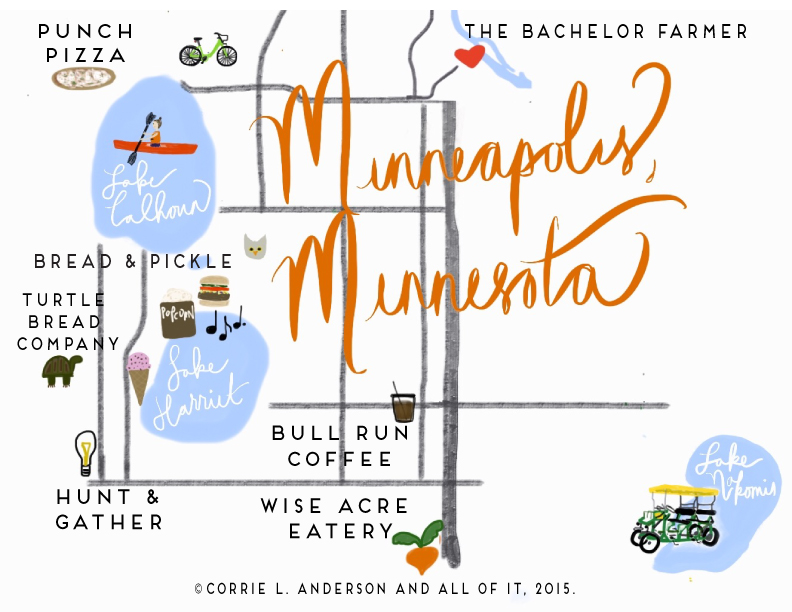 All of It - Lovely Minnesota - Map of Minneapolis Highlights