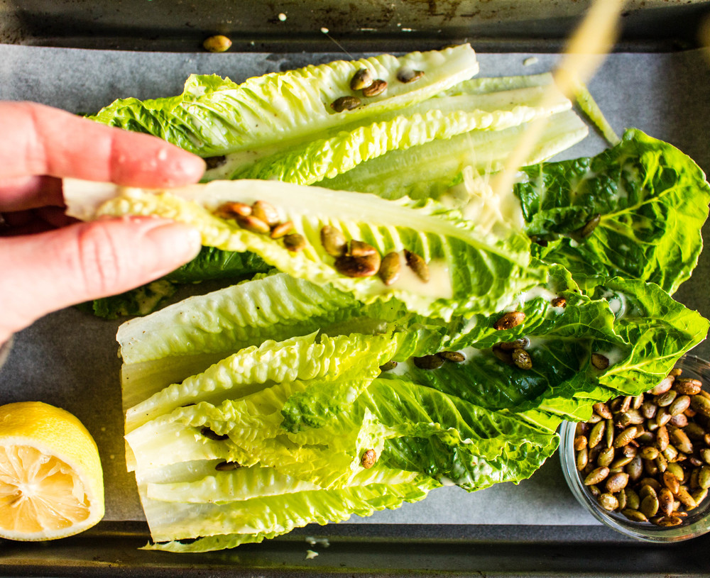 All of It - Romaine Wedges with Toasted Pepitas