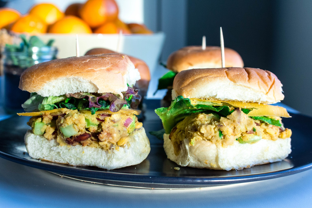 All of It - Spicy Almond Chickpea Salad Sliders