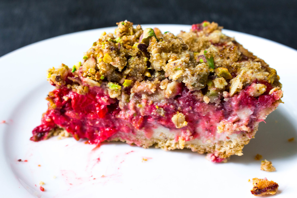 All of It - Strawberry Pistachio Crumble Pie