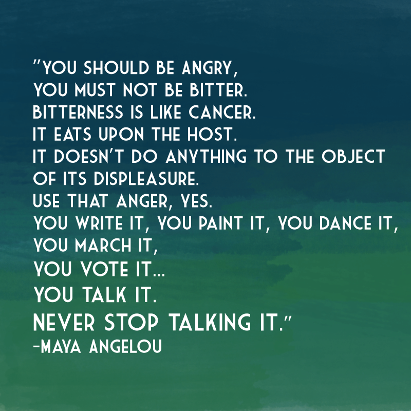 All of It - Never stop talking it - Maya Angelou