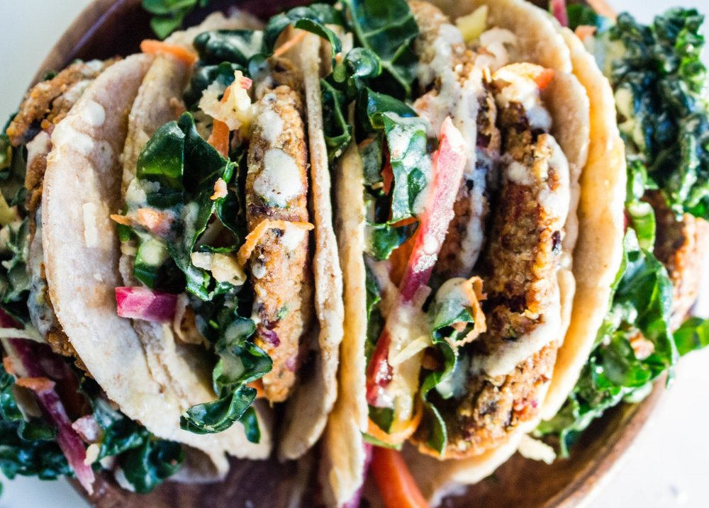 All of It - Sweet Potato Black Bean Falafel Tacos
