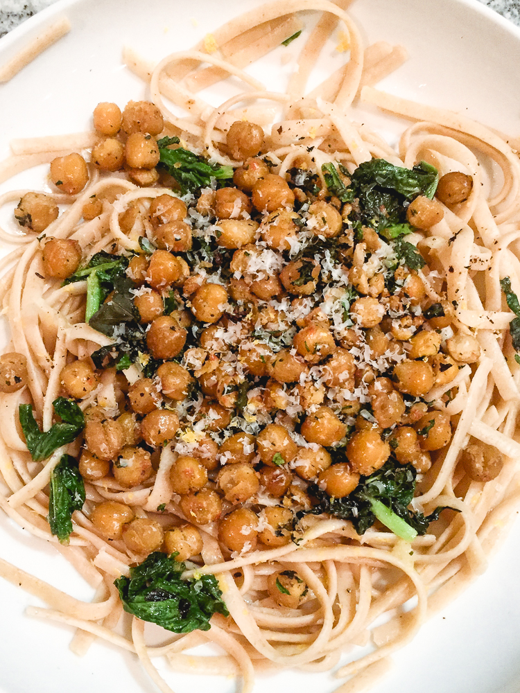 All of It - All of It - Crispy Herbed Chickpeas over Pasta with Tomato Sauce