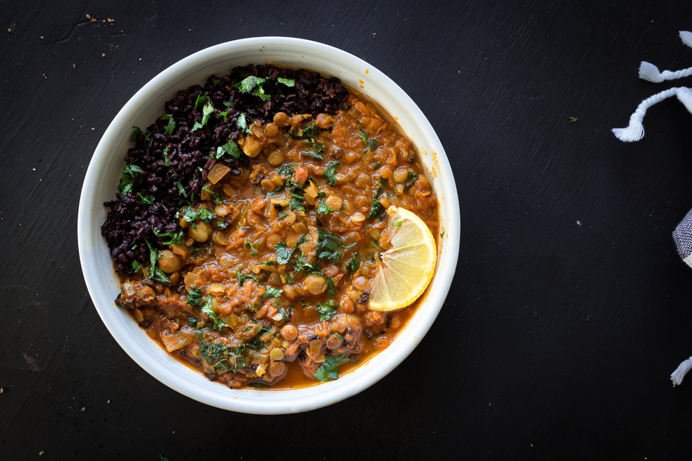 All of It - Lentils and Chickpeas in Tomato Coconut Sauce