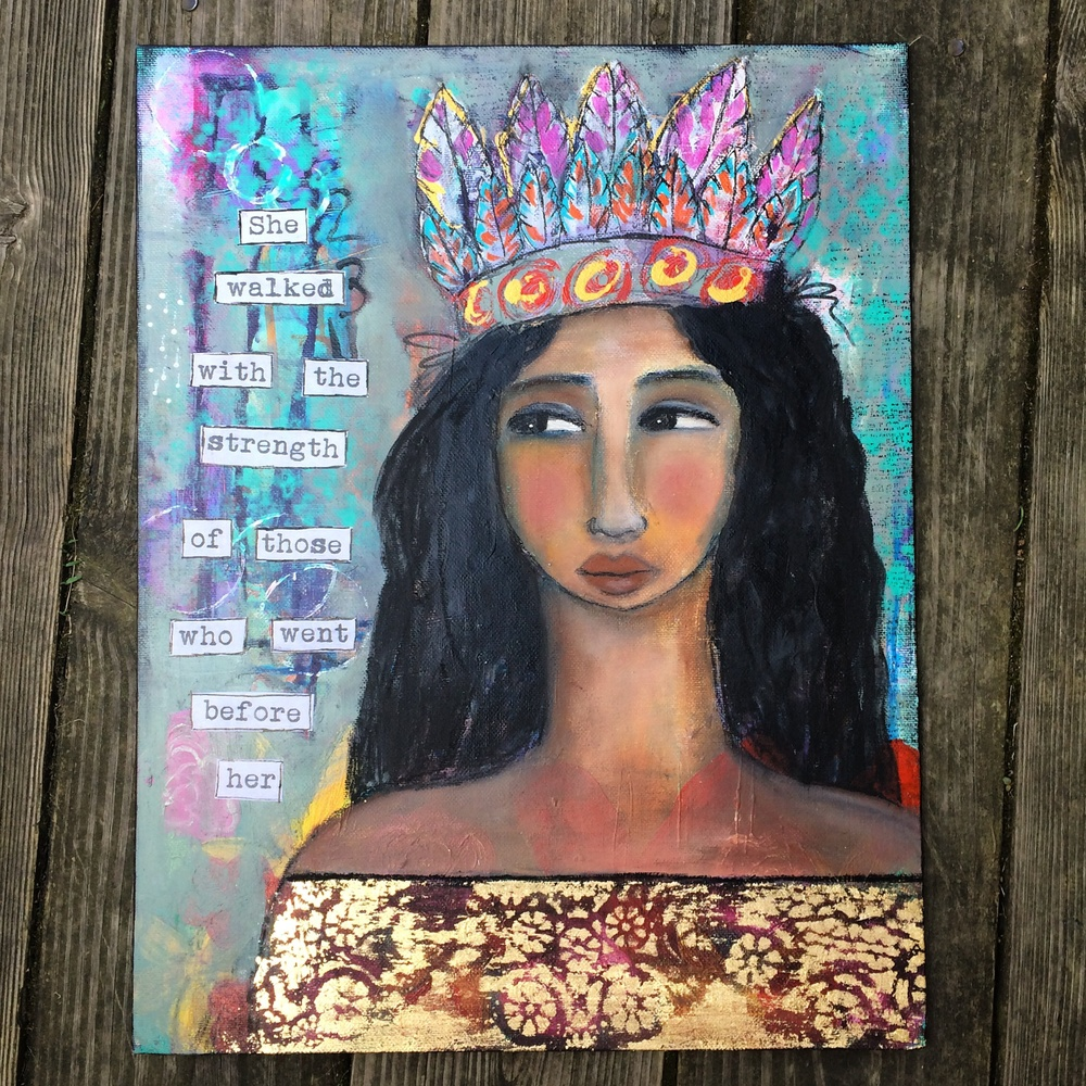 Original mixed media painting by Jennifer Albin, June 2015 available  HERE  for purchase.