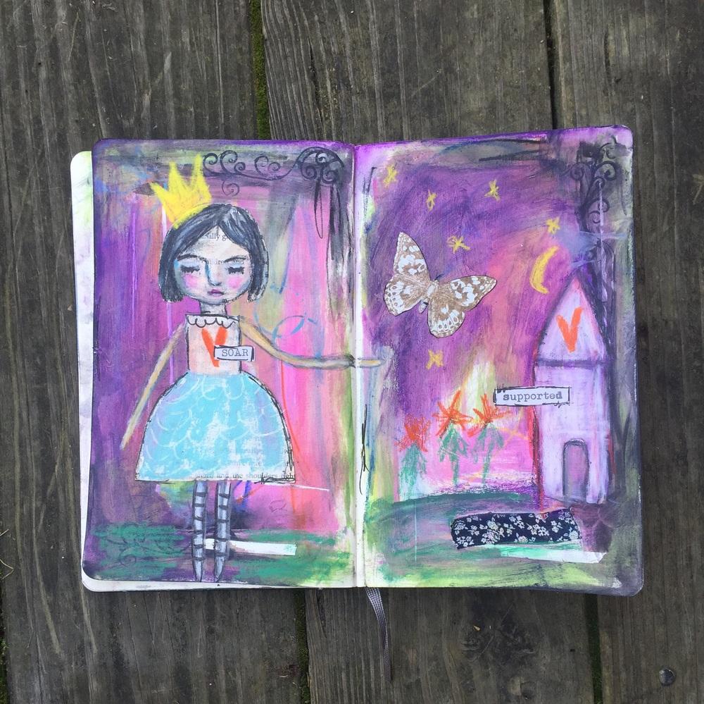 Original art journal page by Jennifer Albin, 10/8/15