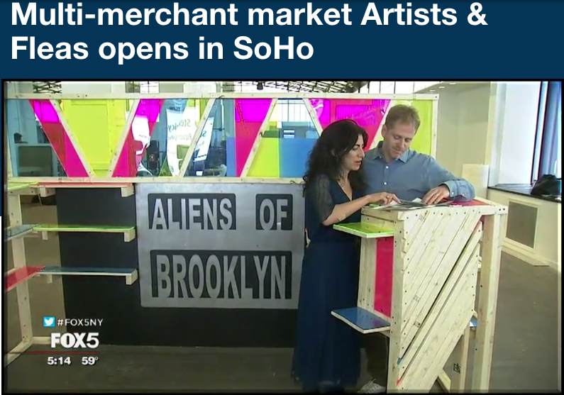 Fox 5 NY: Multi-merchant market Artists & Fleas opens in Soho