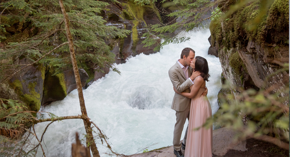 Glacier National Park, Avalanche Lake Wedding © GSquared Weddings