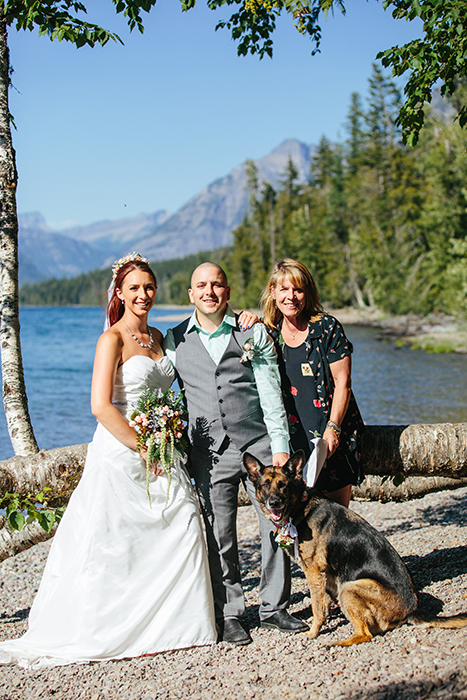 Glacier National Park, Lake McDonald Wedding ©Kristen Paulsen Photography