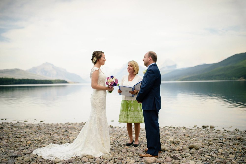 Officiating Katie and Evan's Wedding, Glacier National Park • Photo © Carrie Ann Photography
