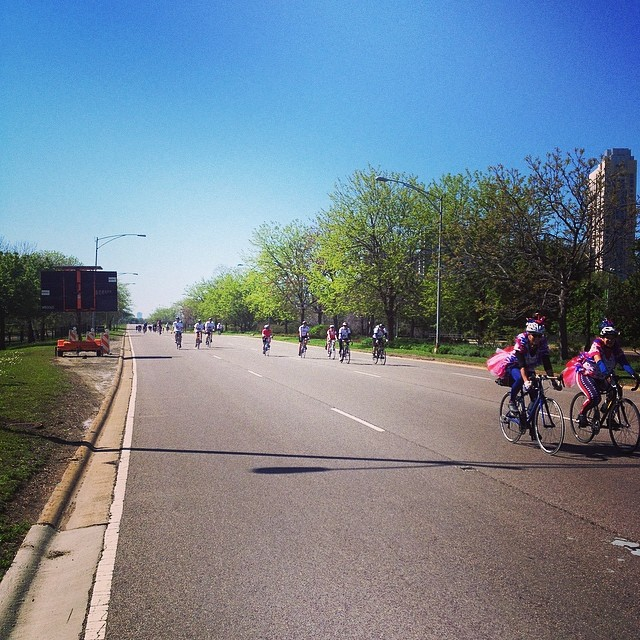 I took the lakeshore drive to work today... on a bike!! #ILOVECHICAGO #bikethedrive