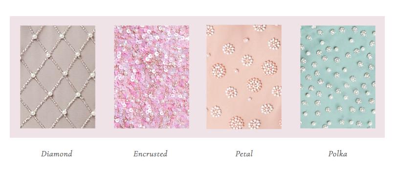 Motee Maids - hand beaded embellishment options