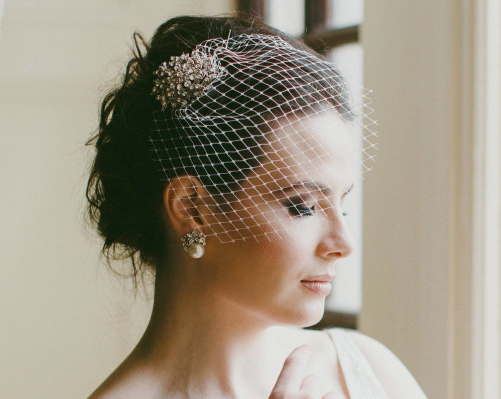 Birdcage veils from Aisling Designs.