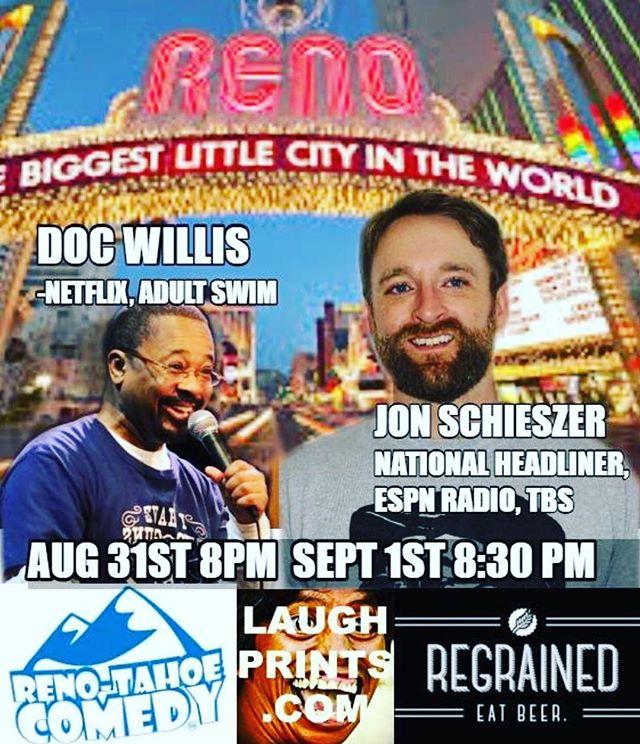 LAST NIGHT #reno @jonisherecomedy @docwilliscomedy @drewskixc 8:30 @renotahoecomedy #RenoNV #getURlaughs #renotahoe #laughprints
