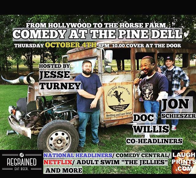 It's finally here. @jonisherecomedy #JesseTurney @maeret and special guests.  TONIGHT 8pm.  Pine Dell Horse Farm #pleasantHillMO —that's you #kcMo kC #KansasCity #bluespringsMO #leesummit