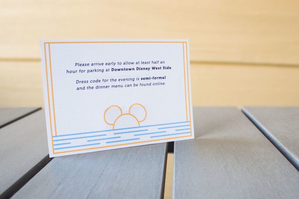 RSVP Card: mailed out in October 2015 alongside the larger Formal Invitation.