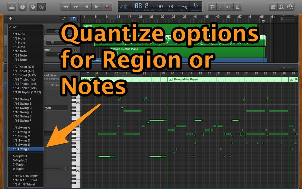 Quantize options