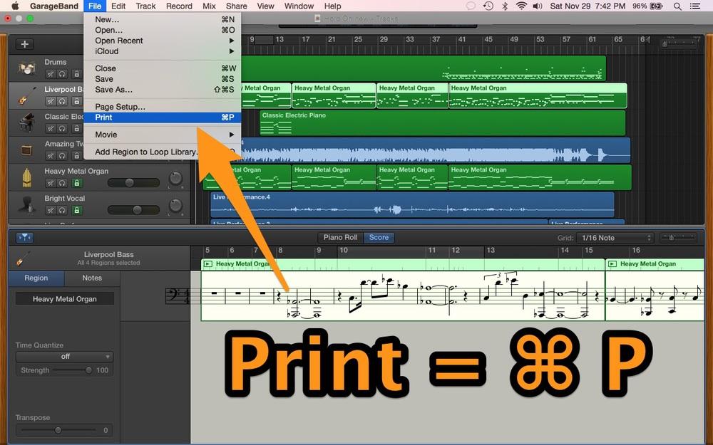 Print Score