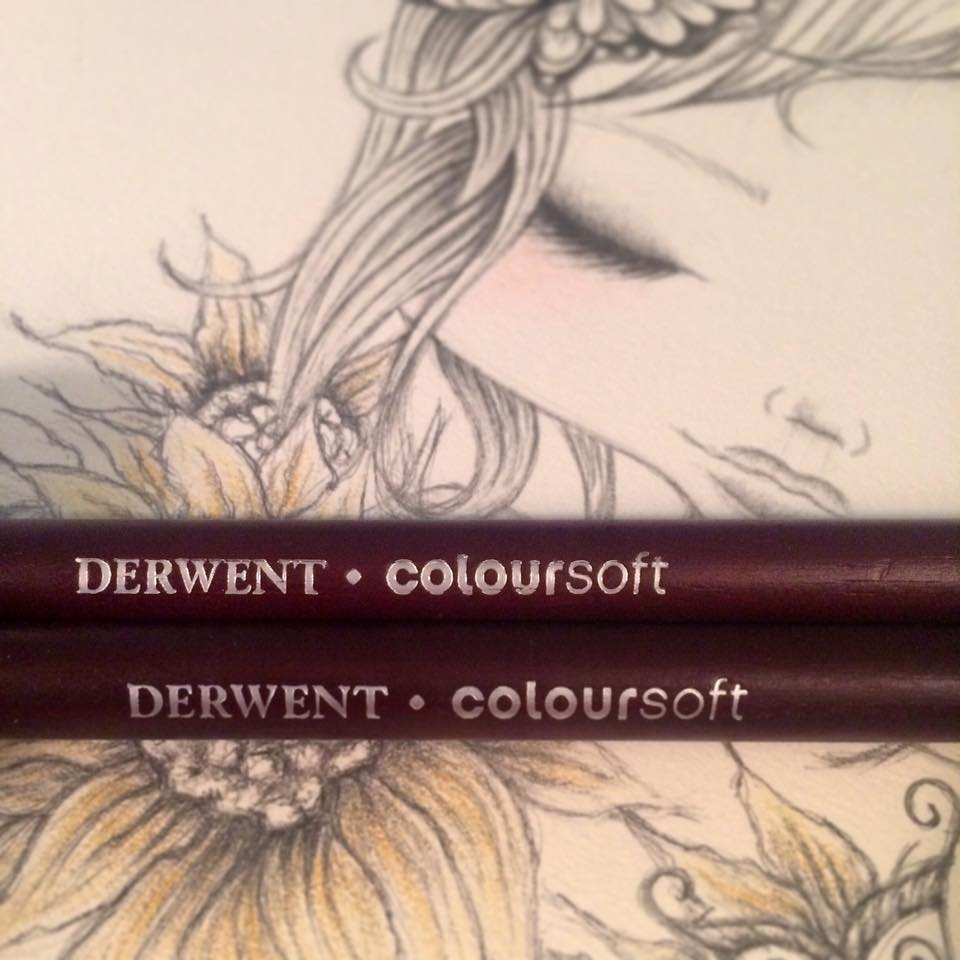 adding a little color...derwent obsessed!