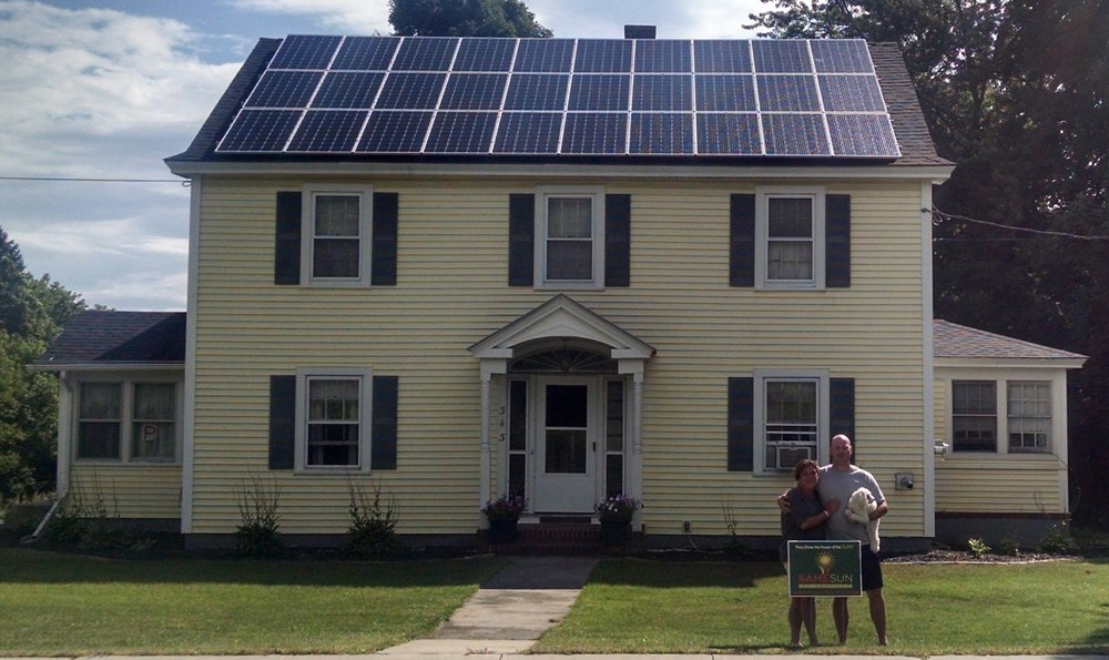 """We are so happy we chose Same Sun!From start to finish they were fantastic!!!"" - Blake & Jodi Cushing, West Rutland VT"