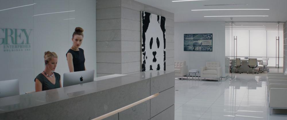 The pristine lobby to Grey Enterprises.