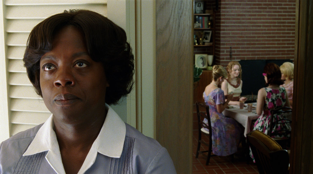 "Davis stirred up controversy by portraying a black maid in ""The Help"" (2011)"