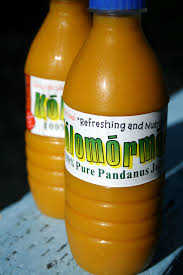 The Pandanus Juice is a health drink which contains many vitamins that are essential for healthy diet. The Panadanus juice is unique as it is produced no where in the World except for in the Republic of Marshall Islands.