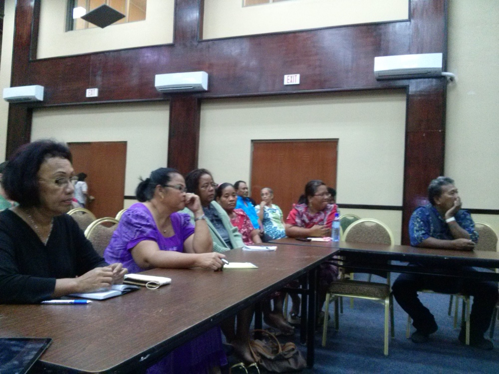 Trade attends Breadfruit Workshop hosted by Agriculture. -Feb. 2015
