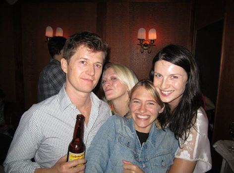 Ole at the LA premiere party with the stars of Picture Me: Sara Ziff, Sena Cech, And Caitriona Balfe.