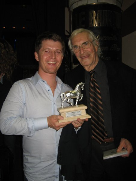 Ole with Martin Landau winning the best picture award a the Milan International Film Festival. Martin won a lifetime achievement award.