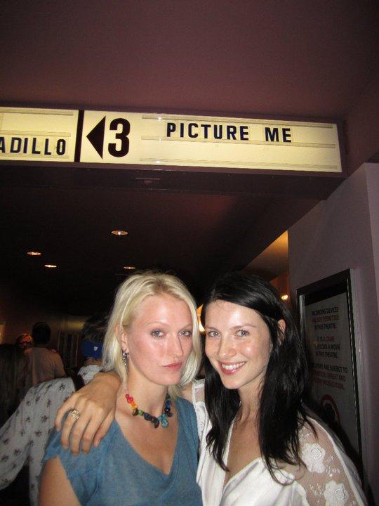 Sena Cech and Caitriona Balfe at the LA premiere.