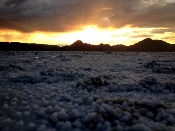 Morning on the Bonneville Salt flats for the Wrightspeed shoot.