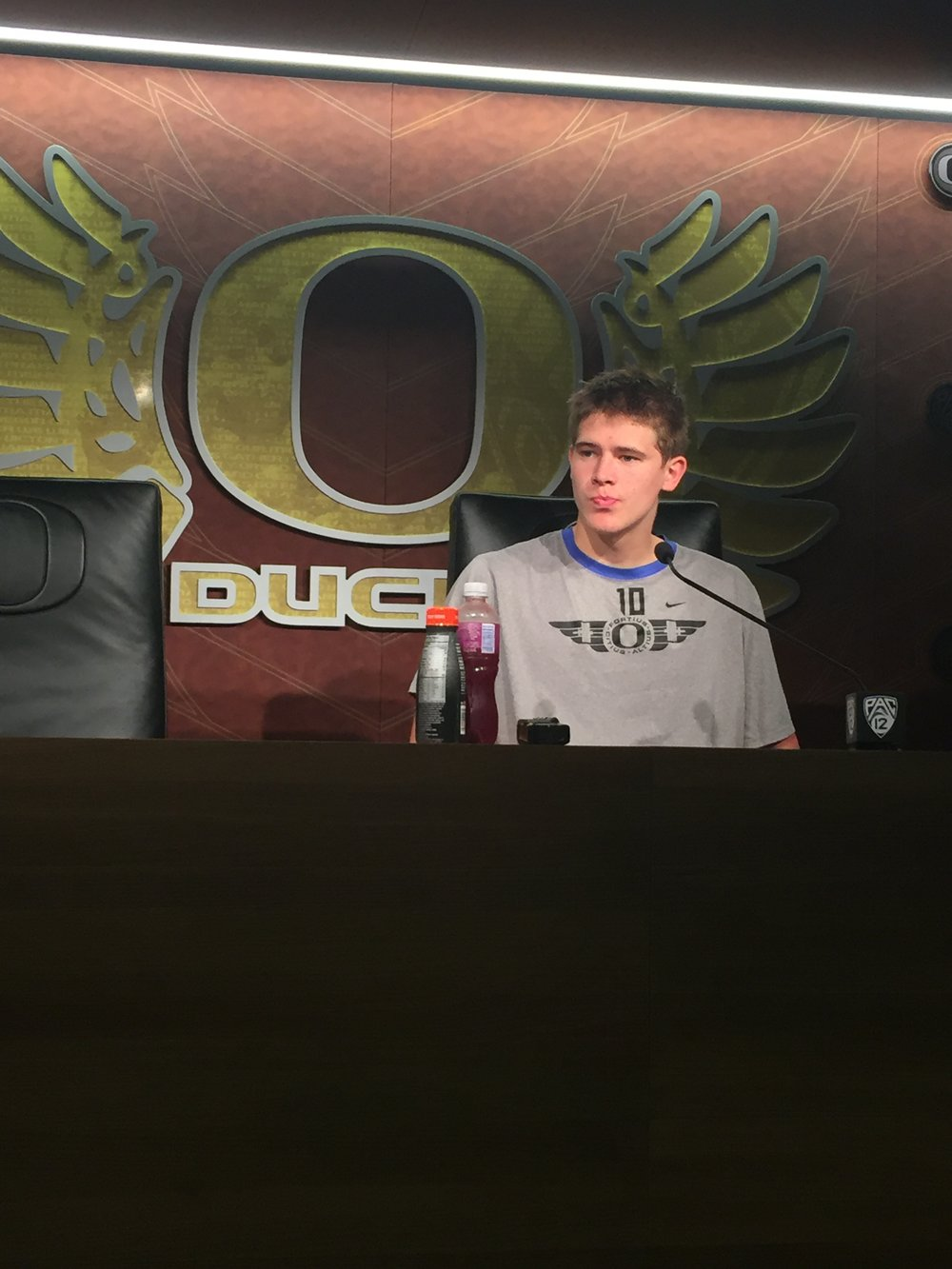 Oregon Ducks QB Justin Herbert after his first start.