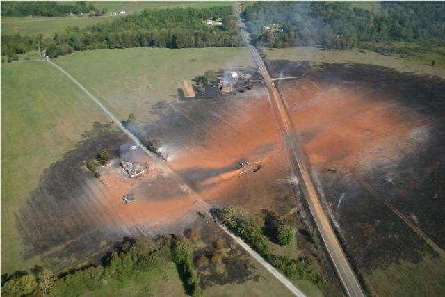 Williams gas pipeline rupture near Appomattox,VA