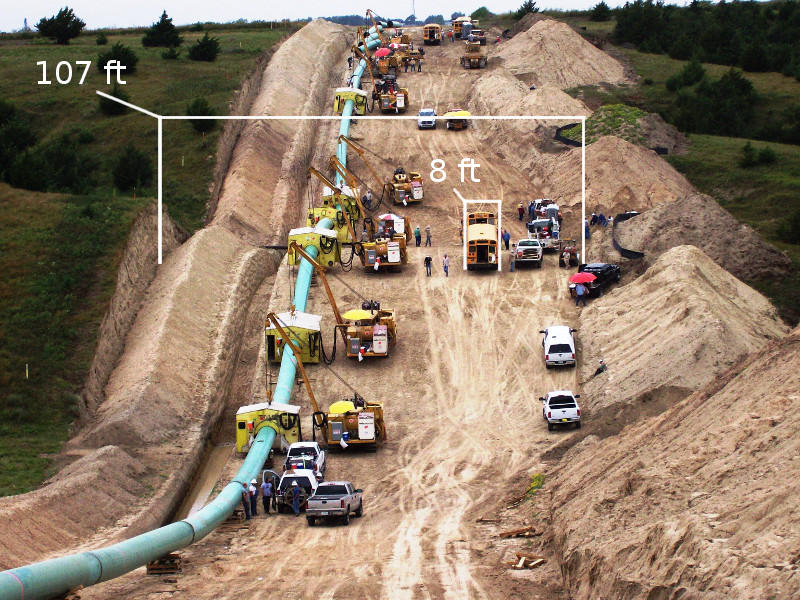 "42"" gas pipeline construction"